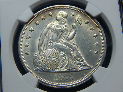 1873 $1 Seated Dollar MS-61 NGC, Very Tough Coin!