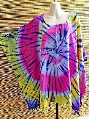Bulk lot of 5 caftans.Bust and hips is 190cm.5 colours.Tie dye.One ezi fit .New.