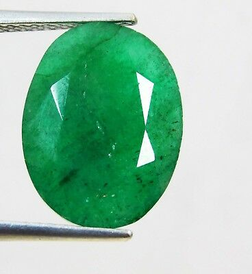 Natural 6.35 Ct Oval Cut Colombian Loose Emerald Gemstone. 11029 qw