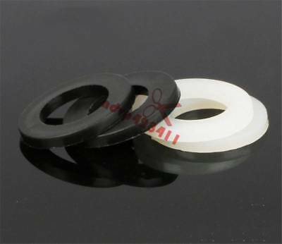50/100pcs Plastic Nylon Flat Spacer Washer Insulation Gasket Ring For Screw Bolt