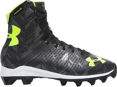 NEW YOUTH UNDER ARMOUR UA HIGHLIGHT RM sz 3.5Y BLACK GRAY LIME Football Cleats