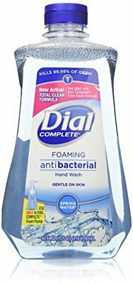 Dial Complete Spring Water Foaming Antibacterial Hand Wash Refill, 40 Oz