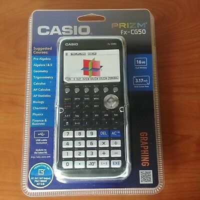 Casio FX-CG50 Prizm 3-D, Color-Display Graphing Calculator, New In Box FAST SHIP