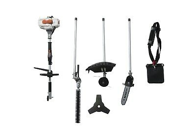 26CC 2 Cycle 4 in 1 Multi Tool with Grass Trimmer Attachment, Hedge Trimmer NEW