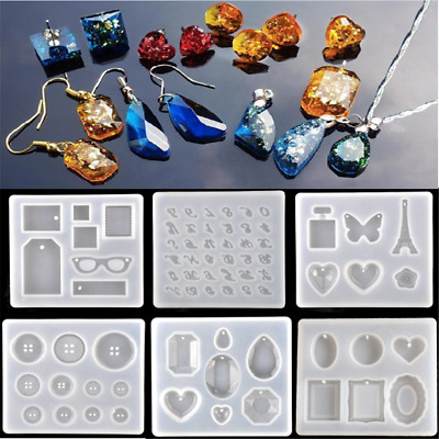 Necklace pendent Silicone Mould DIY Resin Decor Craft Jewelry Making Mold 1PC
