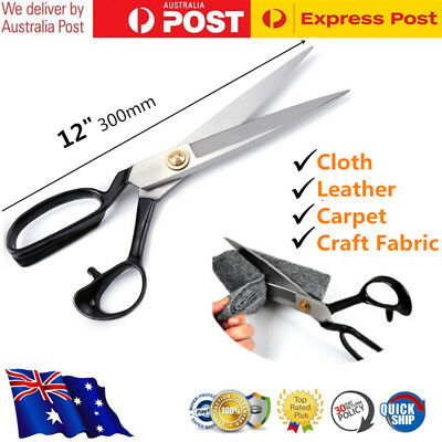 "12"" Tailor Scissors Upholstery Shears Dressmaking Fabric Sewing Cutting Tools AU"