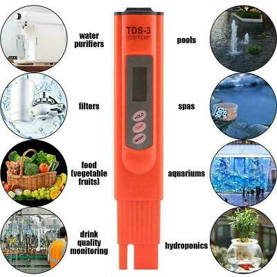 Digital LCD TDS Water PH Meter Home Drinking Tap Water Quality Purity Tester