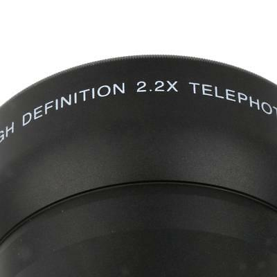 62mm 2x Magnification Telephoto Lens for Canon Nikon Pentax Sony DSLR Camera