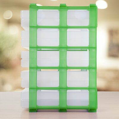 Green Craft Storage Stak With 10 X A4 Clear Slim Boxes