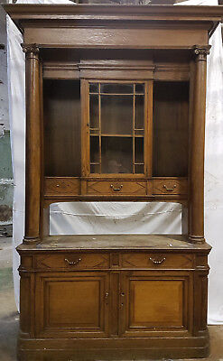 8ft7in tall 5ft wide Oak chiffoneer bookcase late 19th C Possibly Whytock & Reid