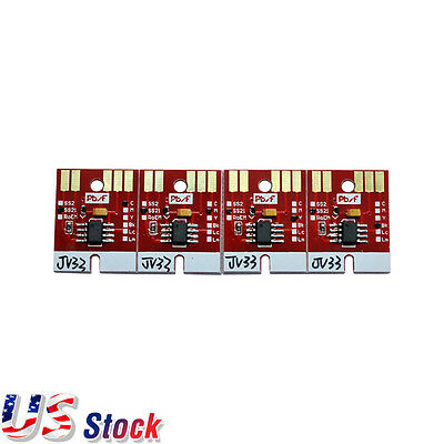 US Stock Chip Permanent for Mimaki JV33 SS21 Cartridge 4 Colors C M Y K