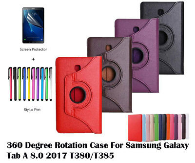360°Rotate PU Leather protective cover case for Samsung Galaxy Tab A 8.0 2017