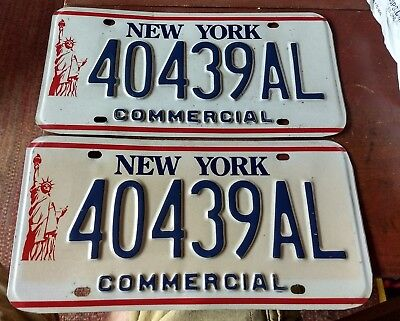 2001-2010 New York Pair of Commercial License Plates 40439AL Statue of Liberty