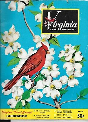 Vintage Virginia Travel Guide 1950's Blue Ridge parkway