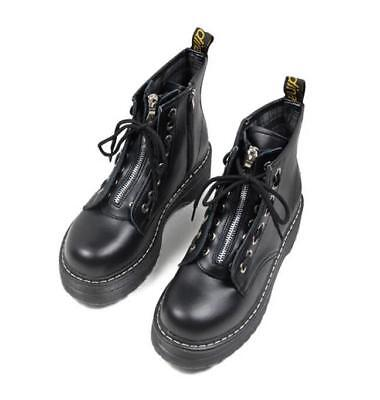 137152e8528 WOMENS LADIES ZIP Creepers Chunky Cleated Platform Goth Punk Ankle Boots  Shoes