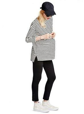 Hatch Collection Black The Stable Legging Maternity Pants 1