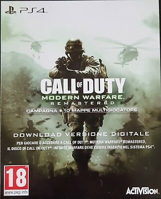 Call of Duty Modern Warfare Remastered Download Versione Digitale PS4