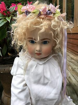 "27"" Tete Jumeau Repro Redone By Master Doll Artist 2 Wigs"