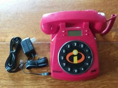 """Disney Pixar - Red """"The Incredibles"""" Collector's Phone New-in-Box"""