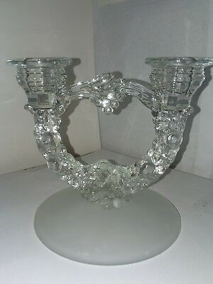 Elegant Art Deco Figural Grapes Double Candle Holder