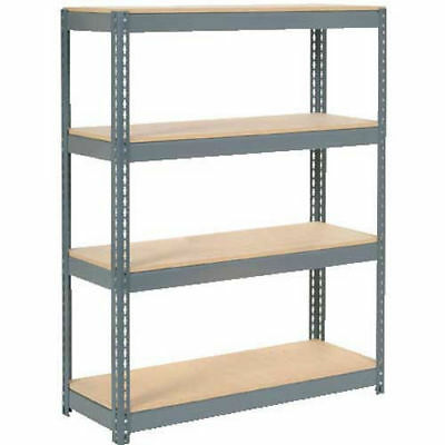 "Boltless Extra Heavy Duty Shelving 48""W x 18""D x 72""H, 4 Shelves, Wood Deck, Lot"