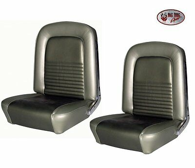1967 Mustang Dark Red Front Bucket Seat Upholstery by TMI Now in Stock