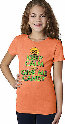 "Halloween Girl/'s Minions Top /""Keep Calm and Give Me Candy/"" Long Sleeve T-Shirt r"