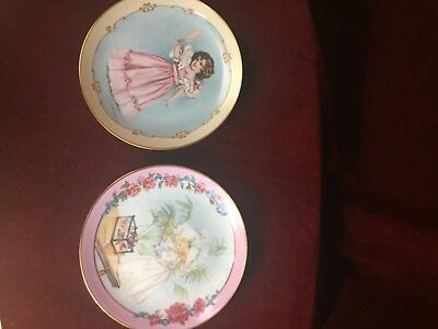 """2 MAUD HUMPHREY Bogart Collector Plate """"First Party""""+Victorian Playtime."""