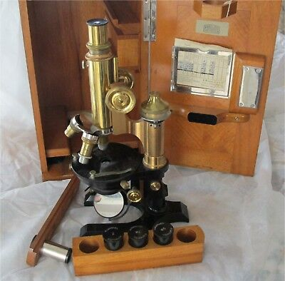 Winkel-Zeiss Gottingem Antique Microscope working order all original 1900's