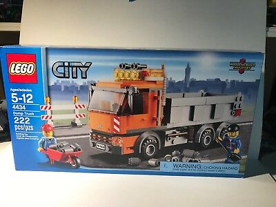 Lego 4434 Dump Truck Tipper Construction City Tools Orange Loader