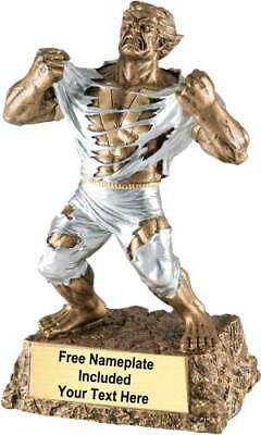Monster Victory Trophy Award - Your Custom Text - Fast Free Ship - Lowest Price