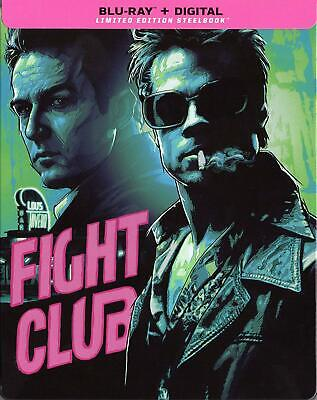 Fight Club Limited Edition STEELBOOK Blu-ray only, Digital Removed U.S Release