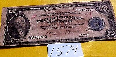 VICTORY 10 PESO BILL, PHILIPPINES , Commomwealth of the Phillipines U.S.A.
