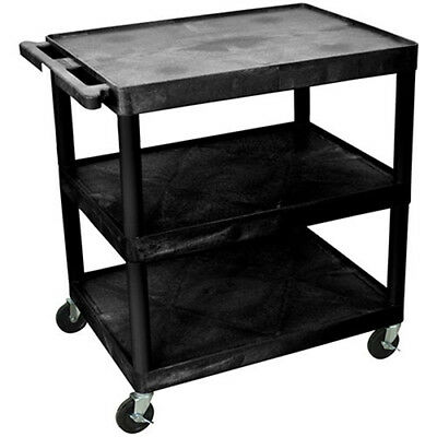 "LUXOR | H. WILSON Flush-Shelf Carts - 32""Wx24""D Shelf - 33""H - 3 Shelves -"