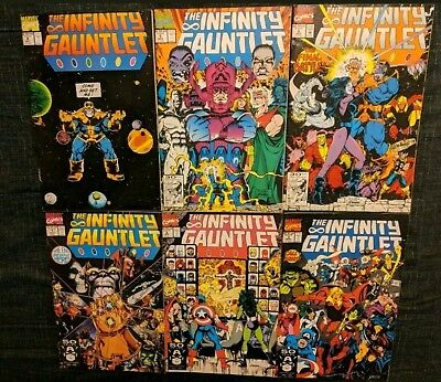 The Infinity Gauntlet #1-6 Complete Set w/The Infinity War 1-6 (Missing Issue#5)