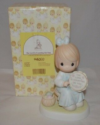 Precious Moments THE LORD IS COUNTING ON YOU FIGURINE