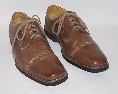 Sandro Moscoloni Norridge Mens Brown Leather Lace Oxford Cap Toe Shoes 10 Med