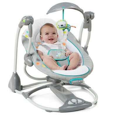 Ingenuity ConvertMe 2 in 1 Swing to Seat Foldable/Portable Baby/Infant Rocker
