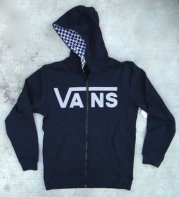 New Vans Skateboard Checkered Winter Zip Up BOYS Hoodie