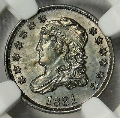 NGC MS62 1831 Capped Bust Half Dime