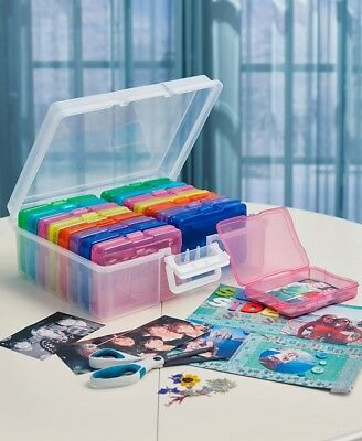Photo Storage Box for 1600 Pictures Clear Organizer Acid-Free Cases Keeper Pics
