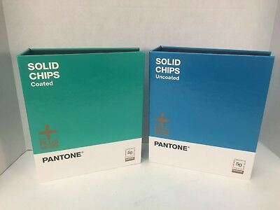 Pantone Plus Series Solid Chips Coated And Uncoated 99% Unused READ Graphic Arts