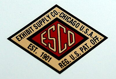 Exhibit Supply Co. Water Slide Decal. # De 1078