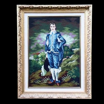 Framed Handcrafted Needlepoint Wool Tapestry 68x54cm BlueBoy Thomas Gainsborough