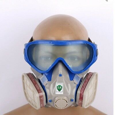 Gas Mask Full Face Respirator Goggles Paint Chemical Spray Paint Dust Filter GL