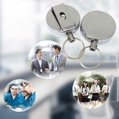 Metal ID Card Badge Keychain Retractable Reel Holder Clip Fishing safety aus