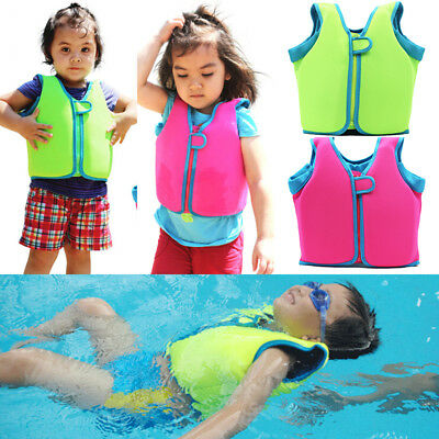 Children's Swimming Float Suit Swim Jacket Vest Life Jacket For Kids 2-13Year AU
