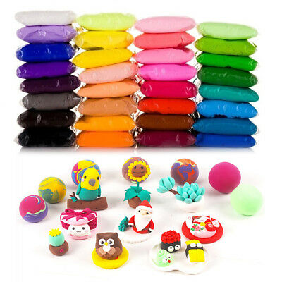 UK 12/24/36Colors Air Dry Modeling Clay Lightweight Soft Play Dough Magic DIY R