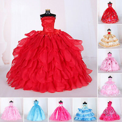 Handmade Dress Wedding Party Mini Gown Fashion Clothes For Barbie Doll Girl Gift