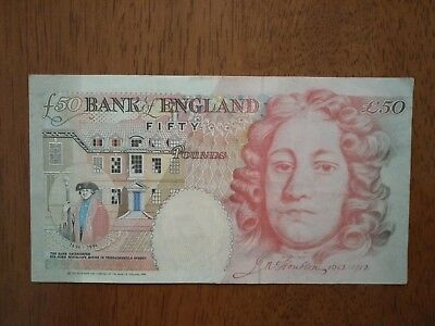 Fifty Pound 50 Banknote Andrew Bailey (Houblon Note) for sale
